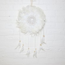 WHITE FEATHER DREAMCATCHER - N/A due to COVID-19  :(
