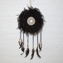 BLACK FEATHER DREAMCATCHER - N/A due to COVID-19  :(